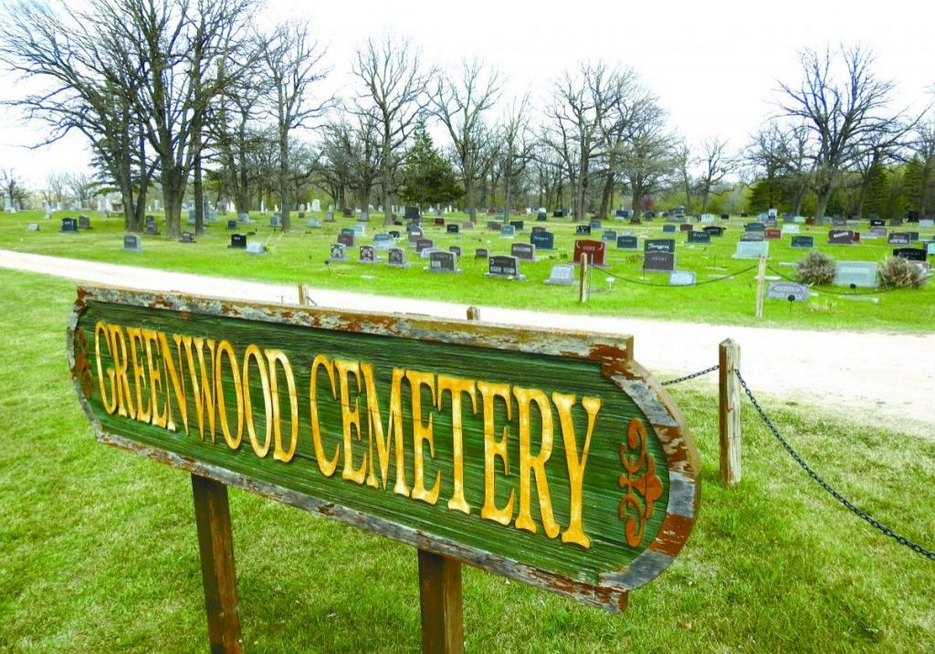 CEMETERIES IN KITTSON COUNTY mostly operate on donated funds and through volunteers. Greenwood Cemetery in Hallock will hold its annual cleanup day on Tuesday, May 25, with a rain date of Thursday, May 27.