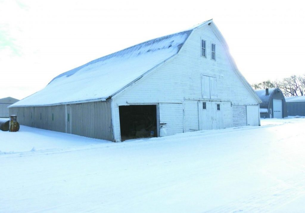 The barn on the Moris Webster farm as it sits today. (Enterprise photo)